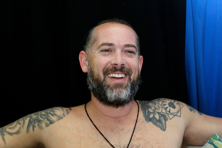 Mike Proto, 37, an elementary school teacher from Peabody, Massachusetts, says his tattoos represent his family and his life. Collectively, his artwork has taken well over 20 hours to complete.