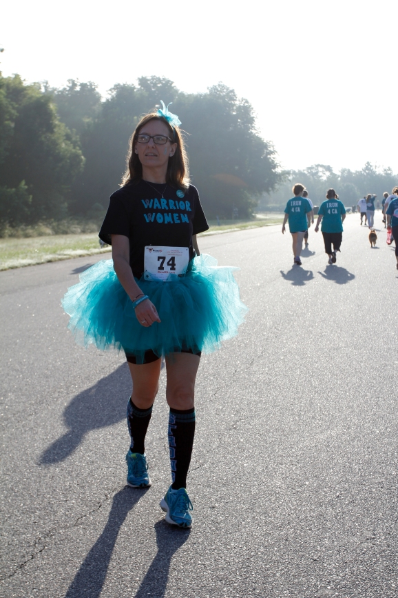 Joie Godfry, 46, a Kroger manager from Woodstock, Georgia, visits Savannah, Georgia, on September 26, 2015, to walk in the Help the Hoo-Hahs 5K for gynecological cancer awareness. After returning from her honeymoon, Godfry discovered her cervical cancer had returned for a third time. She has been in remission for three years since then.